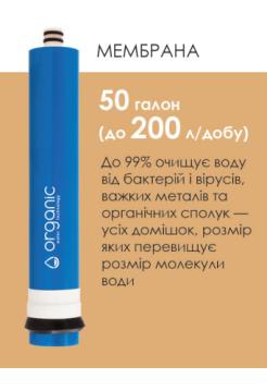 Мембрана обратного осмоса Organic 50 GPD
