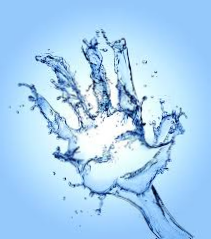 Вода в форме ладони.